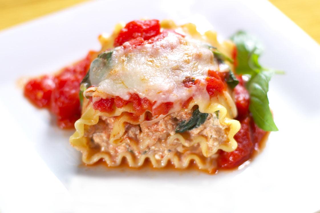 Kale Chorizo Lasagna Rollatini