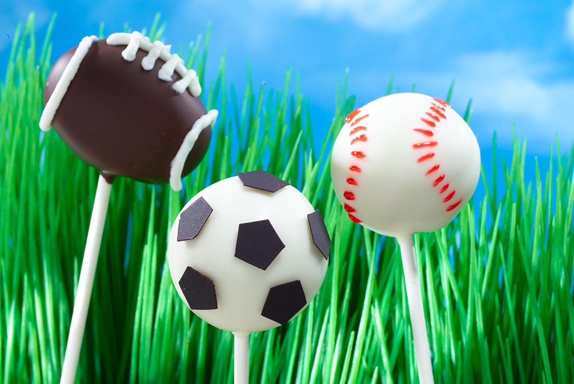 Super Bowl recipes Sports-Cake-Pops
