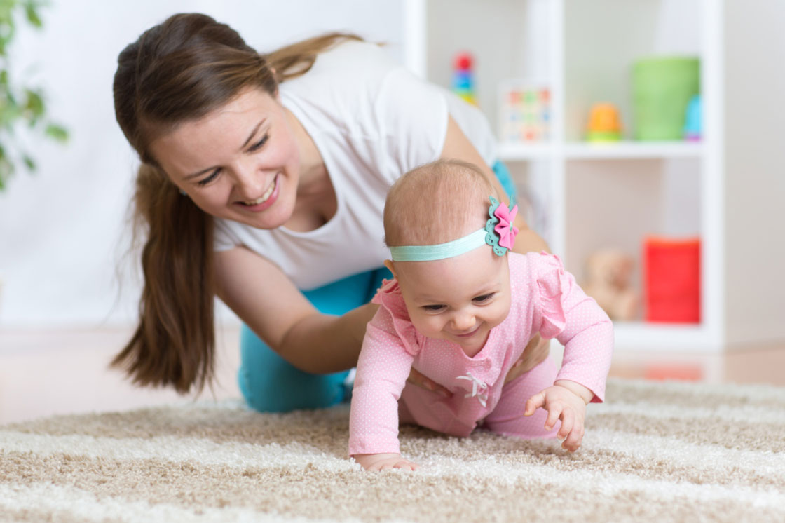 Standing on flat palms and knees your baby moves one hand and the opposite knee and then alternates a traditionalist your baby is moving through