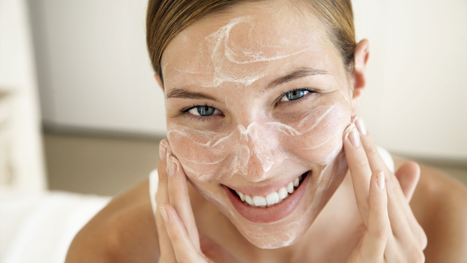 DIY steam facial treatment
